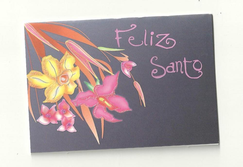 Felicitaciones Para Santos Graciosas.Tarjeta Felicitacion Santo